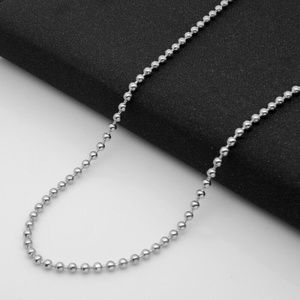 Silver ball Chain 2.4 mm 20 inch-Lobster clasp